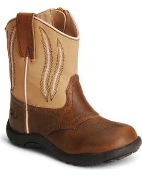 Roper Toddler Boys' Brown Chunklet Cowboy Boots, Brown, hi-res