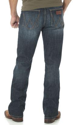 Wrangler Retro Slim Fit Dark Wash Boot Cut Jeans, , hi-res