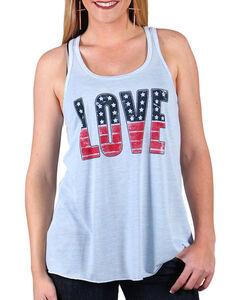 Shyanne Women's Americana Love Tank Top , , hi-res