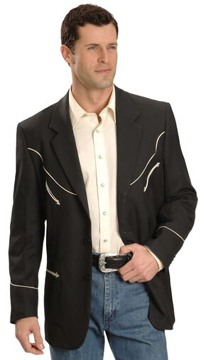 Scully Black Retro Western Jacket, Black, hi-res