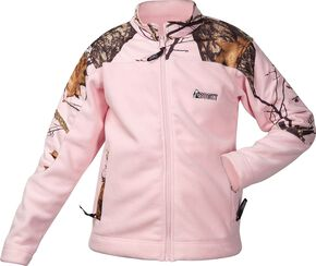 Rocky Girls' Realtree Camo Fleece Jacket, Pink, hi-res