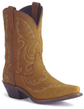 Laredo Distressed Goat Leather Cowgirl Boot - Snip Toe, Brown, hi-res