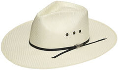 Twister Men's Indiana Straw Cowboy Hat, Natural, hi-res