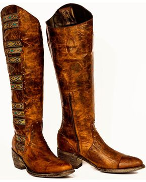 Old Gringo Elina Riding Boots - Round Toe, Brass, hi-res