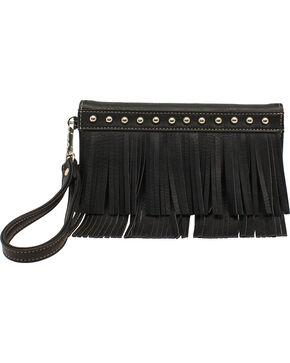 Blazin Roxx Fringe Clutch Wallet, Black, hi-res