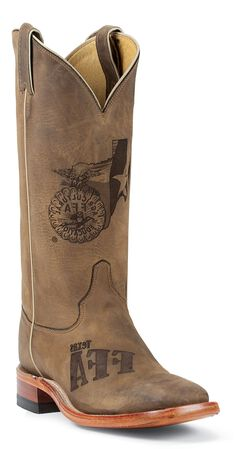 Justin Texas Future Farmers of America Boots - Square Toe, , hi-res
