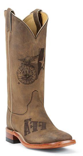 Justin Texas Future Farmers of America Boots - Square Toe, Tan, hi-res