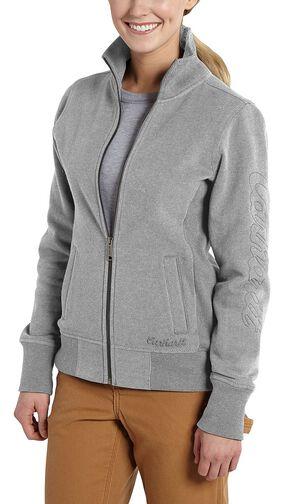 Carhartt Dunlow Zip-Front Sweatshirt, Grey, hi-res