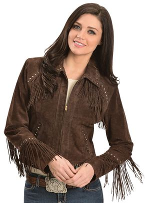 Scully Studded Fringe Jacket, Brown, hi-res