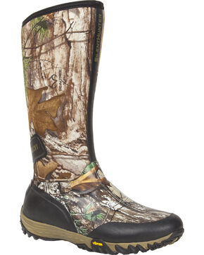 Rocky SilentHunter Waterproof Insulated Rubber Outdoor Boots, Camouflage, hi-res