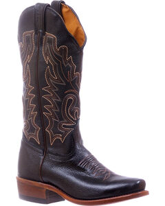Boulet Black Cutter Cowgirl Boots - Square Toe , , hi-res