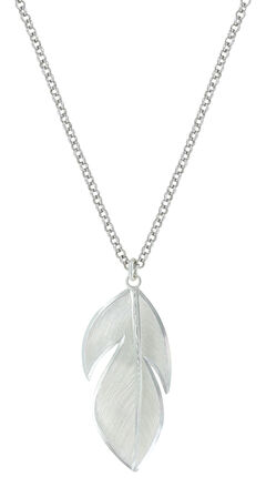 Montana Silversmiths Women's Floating Feather Necklace , , hi-res
