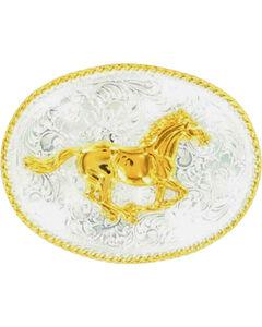 Nocona Running Horse Buckle, , hi-res