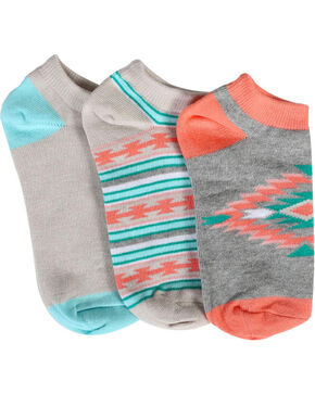 Shyanne Women's Southwest Print 2-Pair Ankle Sock Set , Multi, hi-res