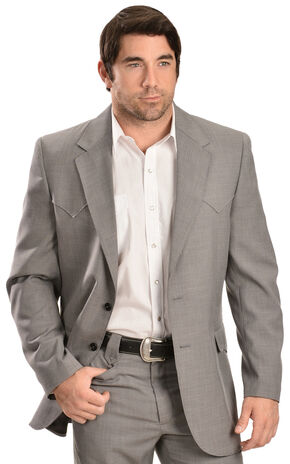Circle S Steel Grey Lubbock Sport Coat - Big and Tall, Grey, hi-res