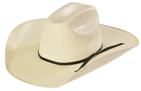 Kids' Youth Twister Natural Cattleman Crease Cowboy Hat, Multi, hi-res