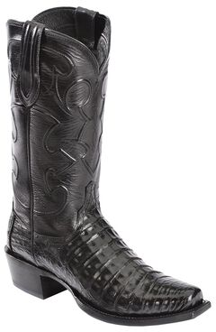 Lucchese Handcrafted 1883 Croc Belly Cowboy Boots - Snoot Toe, , hi-res