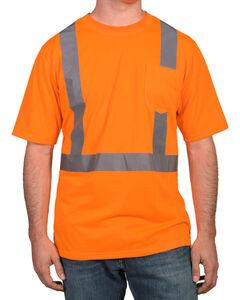 American Worker Men's Short Sleeve High Visibility T-Shirt, Orange, hi-res