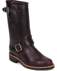 "Chippewa Women's Cognac 11"" Engineer Boots - Round Toe, , hi-res"