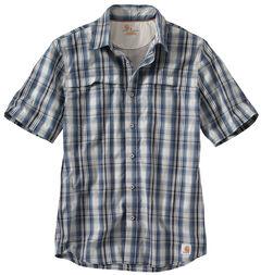 Carhartt Men's Force Plaid Short Sleeve Shirt, , hi-res
