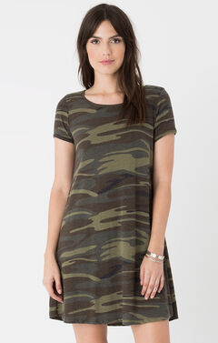 Z Supply Women's Green Connor Camo Dress , , hi-res