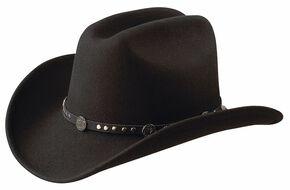 Jack Daniel's Studded Concho Wool Felt Crushable Cowboy Hat, Black, hi-res