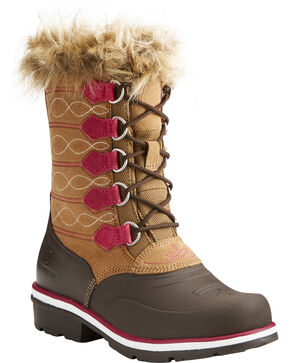 Ariat Women's Whirlwind Frost H20 Fatbaby Boots , Brown, hi-res