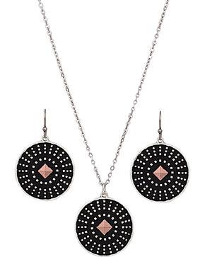 Montana Silversmiths CrossCut Dark Star Jewelry Set, Silver, hi-res