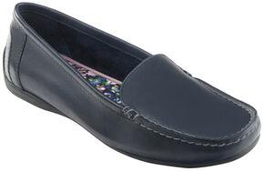 Eastland Women's Navy Crystal Slip-On Loafers , Navy, hi-res
