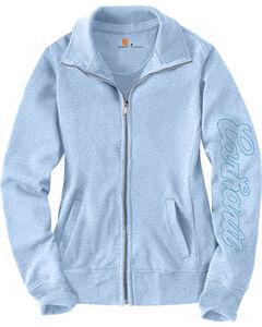 Carhartt Women's Light Blue Dunlow Sweatshirt, , hi-res