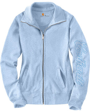 Carhartt Women's Light Blue Dunlow Sweatshirt, Light Blue, hi-res