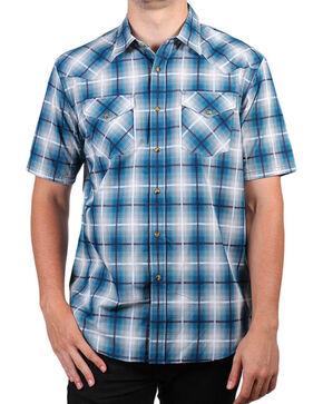 Pendleton Men's Turquoise Short Sleeve Plaid Shirt , Turquoise, hi-res