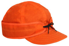 Stormy Kromer Men's Blaze Orange Waxed Cotton Cap, , hi-res