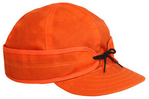 Stormy Kromer Men's Blaze Orange Waxed Cotton Cap, Orange, hi-res