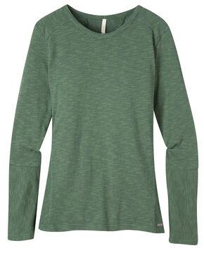 Mountain Khakis Women's Contour Crew Shirt, Green, hi-res