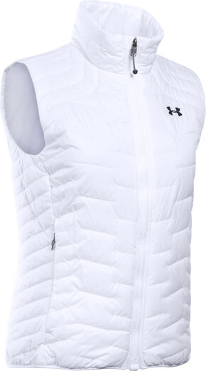 Under Armour Women's UA ColdGear Reactor Vest, White, hi-res