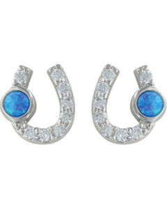 Montana Silversmiths Women's Lightfoot Horseshoe Earrings, , hi-res