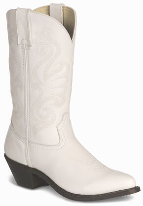 Durango Wild White Cowgirl Boots - Pointed Toe, White, hi-res