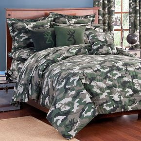Browning Green Buckcamo Twin Comforter Set, Camouflage, hi-res