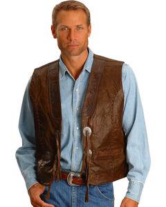 Kobler Tooled Leather Vest, , hi-res