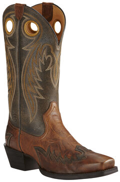 Ariat Men's Brown Rival Boots - Square Toe, , hi-res