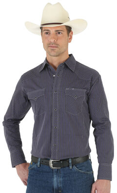 Wrangler Silver Edition Black Dobby Shirt, , hi-res
