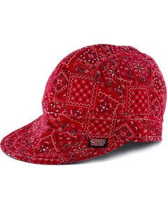 American Worker Men's Paisley Red Welding Cap, , hi-res