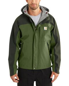 Carhartt Men's Olive Shoreline Vapor Waterproof Jacket, , hi-res