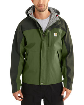 Carhartt Men's Olive Shoreline Vapor Waterproof Jacket, Olive, hi-res