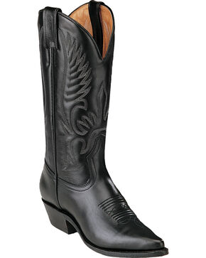 Boulet Challenger Cowgirl Boots - Pointed Toe, Black, hi-res