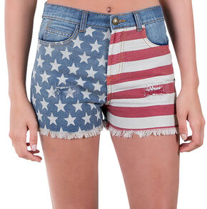 Others Follow Women's Patriot Flag Shorts, Patriotic, hi-res