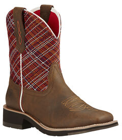 Ariat Fatbaby Sunset Brown Rosie Cowgirl Boots - Square Toe , , hi-res