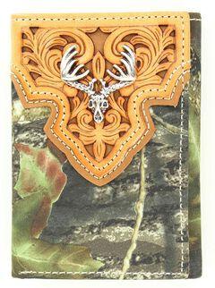 Nocona Mossy Oak Tri-Fold Wallet, , hi-res