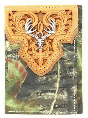 Nocona Mossy Oak Tri-Fold Wallet, Camouflage, hi-res